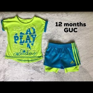 12 month girls Adidas outfit